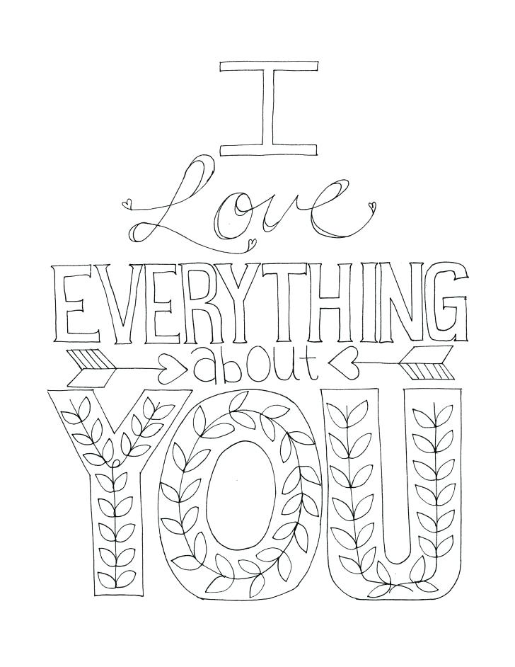728x942 I Love You Printable Coloring Pages Printable I Love You