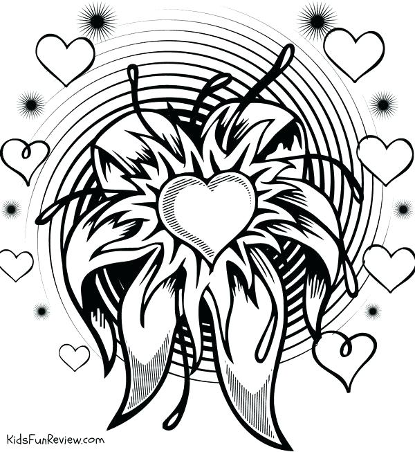 600x653 Love Coloring Pages For Teenagers