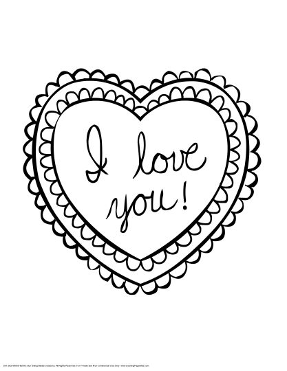 417x540 I Love You Coloring Pages For Teenagers Printable