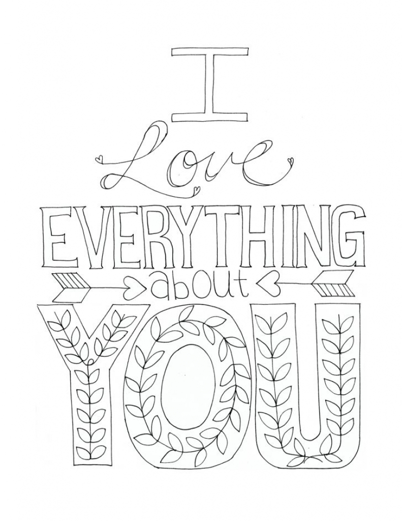791x1024 Announcing I Love You Coloring Pages For Adults Free Printable