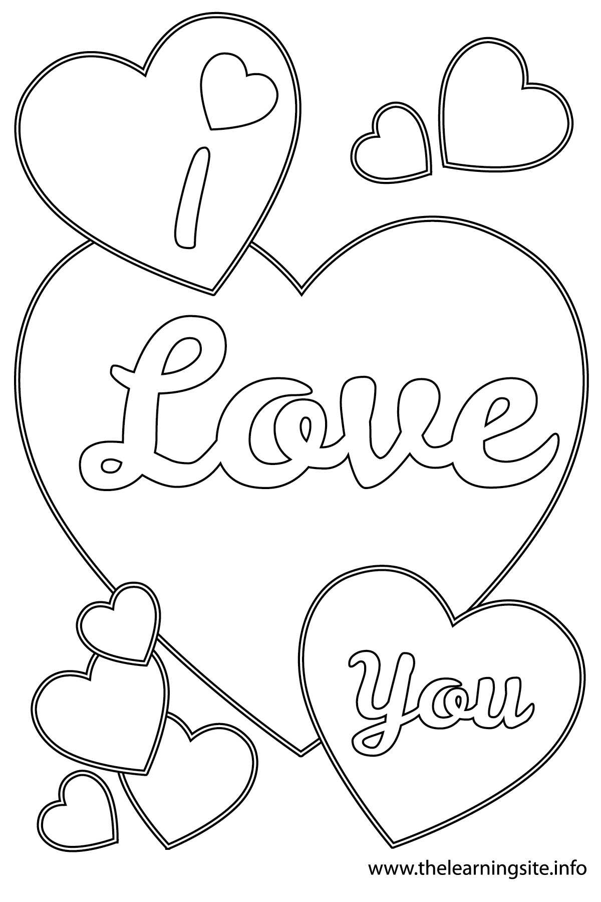 1200x1800 I Love You Coloring Pages To Download And Print For Free