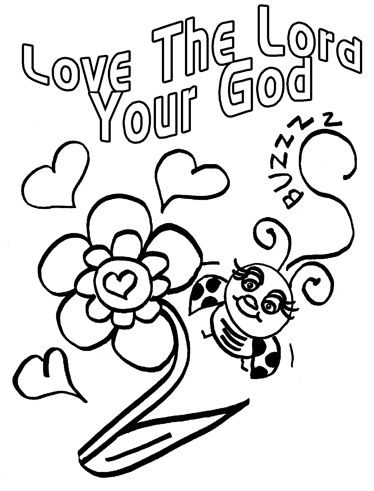 1199x1574 Childrens Gems In My Treasure Box Love Bug For Jesus Coloring