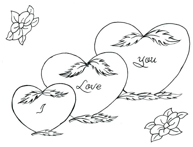 618x472 I Love You Coloring Pages Love Love Coloring Pages I Love You