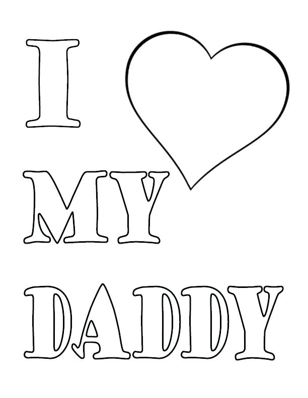 612x792 I Love You Dad Coloring Pages I Love You Dad Coloring Page I Love