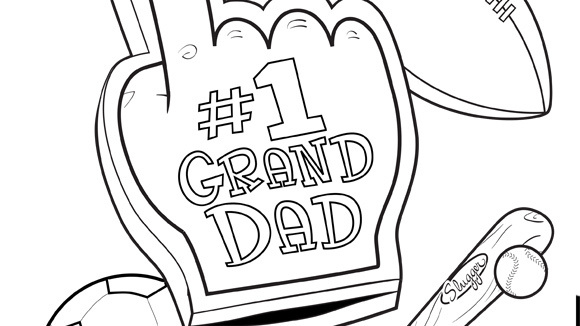 I Love You Grandpa Coloring Pages