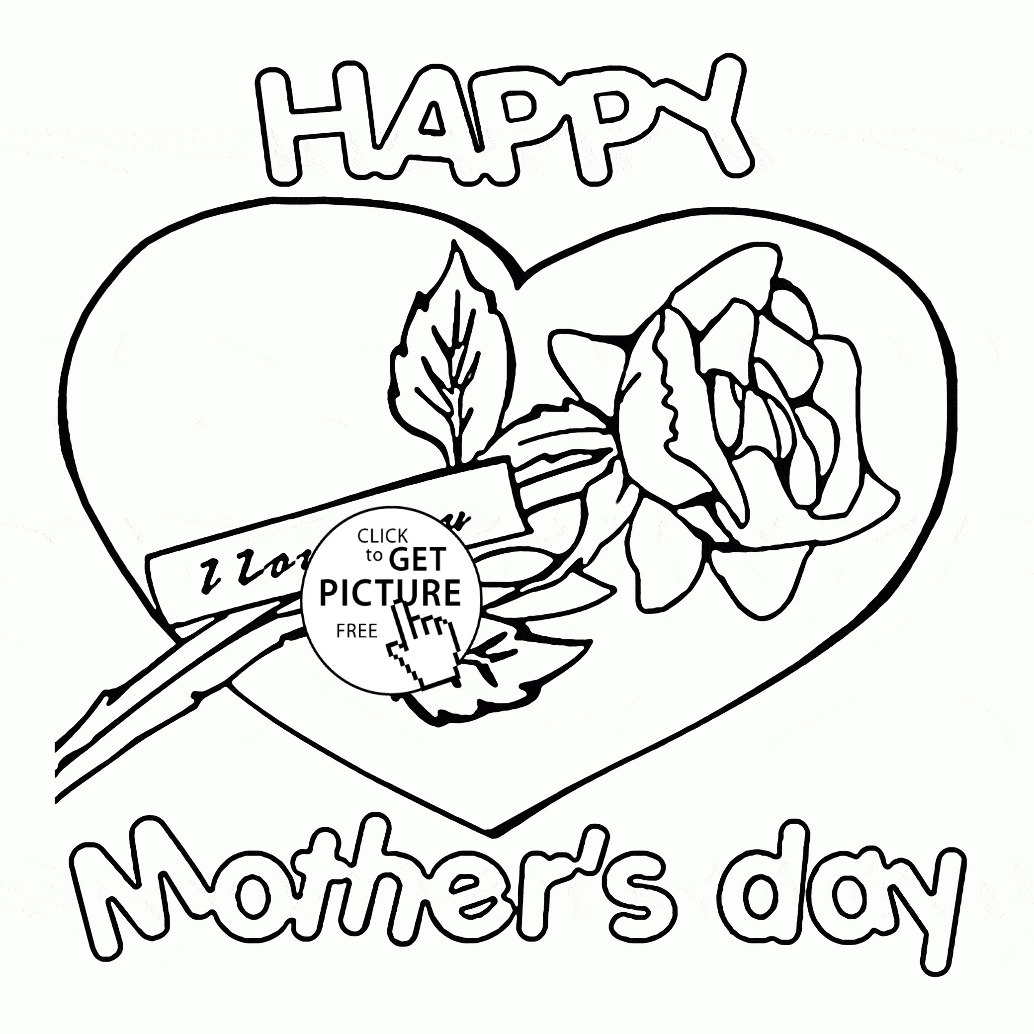 2080x2080 I Love You Mom Coloring Pages Printable