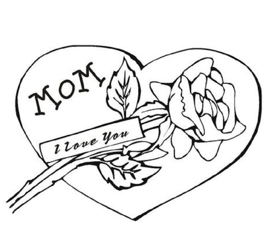 889x822 I Love You Mom Coloring Pages To Download And Print For Free