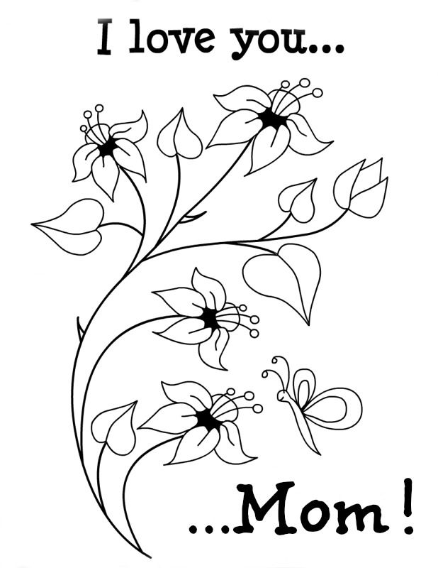 618x800 I Love You Mummy Colouring Pages