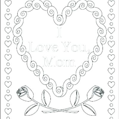 400x400 Mom Coloring Page I Love You Coloring Pages Also I Love You