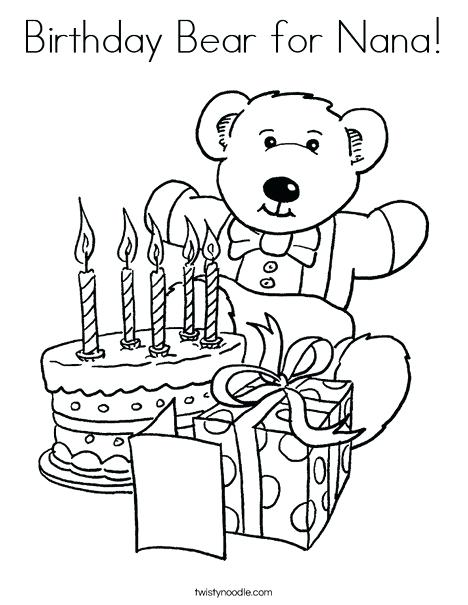 468x605 Happy Birthday Nana Coloring Pages Coloring Pages Flowers Spring