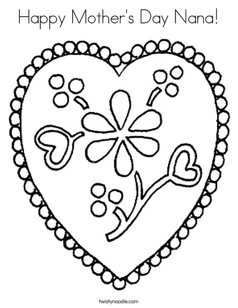 468x605 Happy Mother's Day Nana Coloring Page