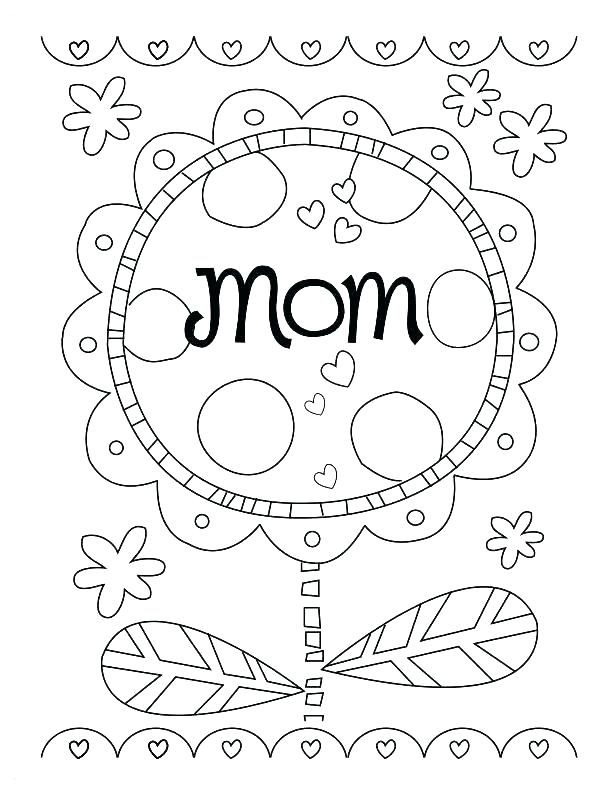 612x792 Happy Mothers Day Coloring Pages Moms I Love You And Happy Mothers