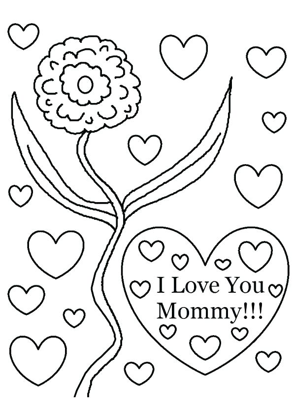 595x842 Coloring Pages For Moms I Love You Mom Coloring Pages I Love You