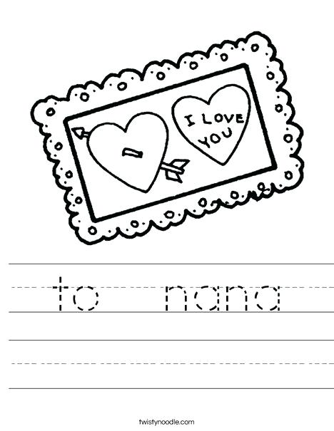 468x605 I Love You Nana Coloring Pages