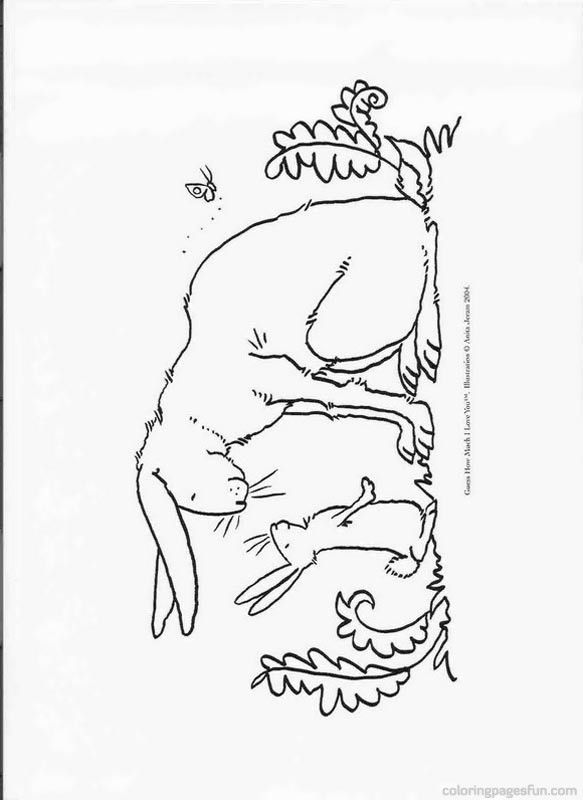 583x800 Guess How Much I Love You Sam Mcbratney Coloring Pages