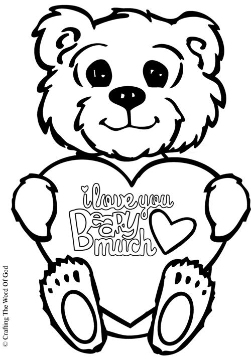 500x718 I Love You Beary Much Coloring Page Crafting The Word Of God