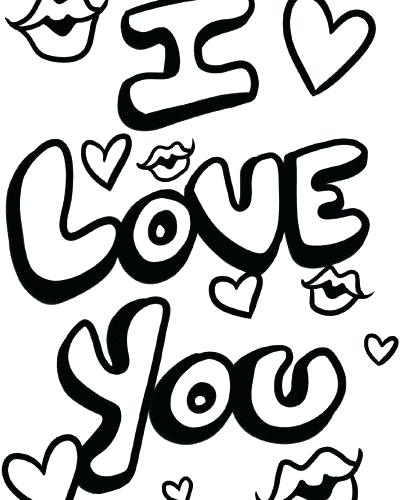400x500 I Love You Coloring Page I Love You Coloring Sheets I Love You So