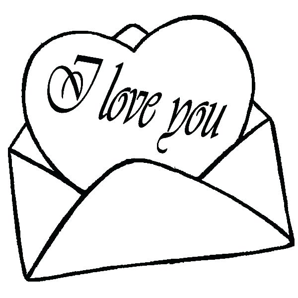 600x600 I Love You Coloring Pages