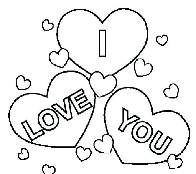 678x600 I Love You Coloring Pages Printable I Love You Coloring Pages I