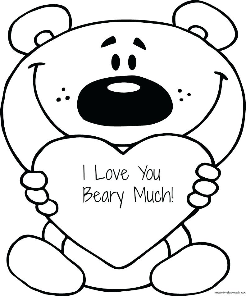 792x953 I Love You Printable Coloring Pages Valentine Coloring Pages