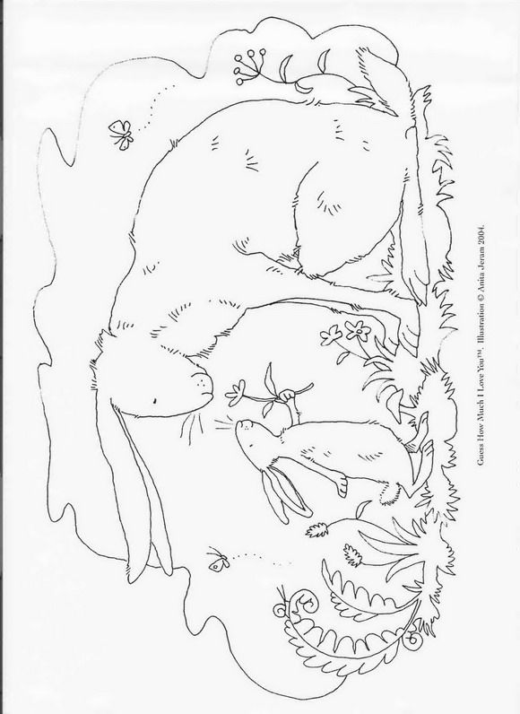 580x796 Guess How Much I Love You Coloring Pages Kids N Fun Coloring