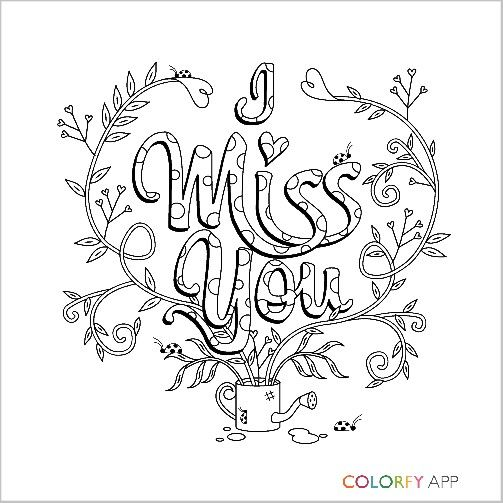 503x503 I Miss You Colorfy Adult Coloring Pages Adult Coloring