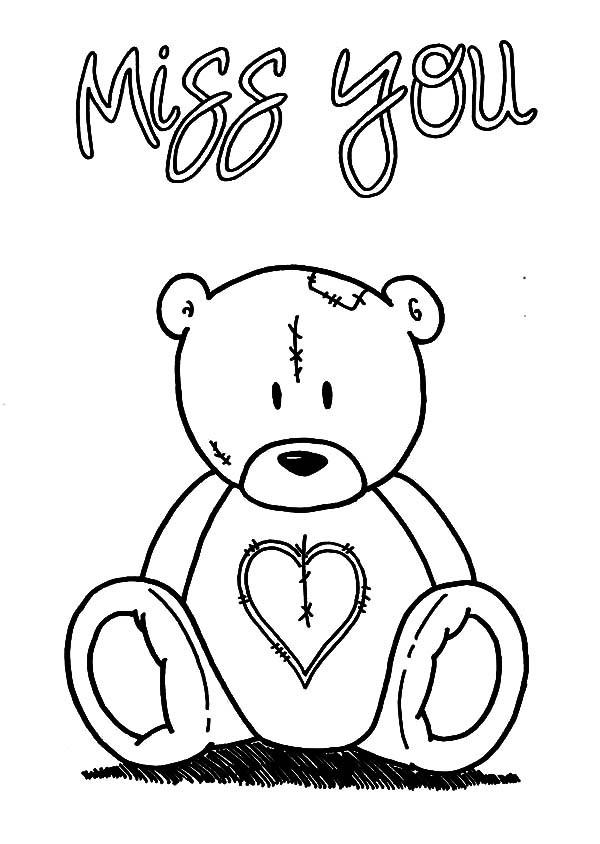 600x844 I Miss You Coloring Pages
