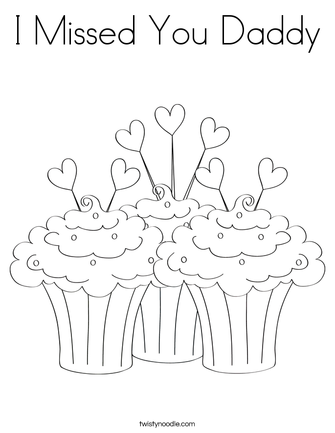 685x886 I Missed You Daddy Coloring Page