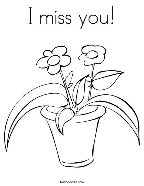 468x605 I Miss You Coloring Page