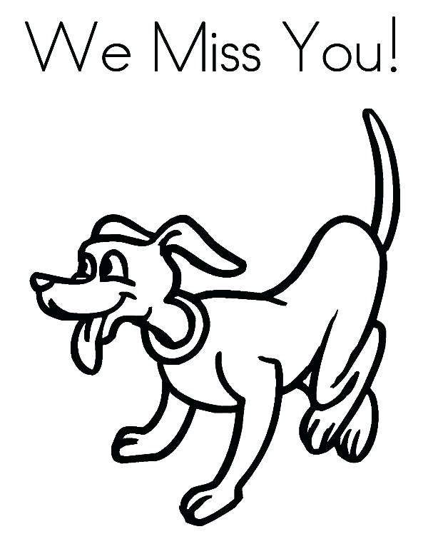 600x776 I Miss You Coloring Pages