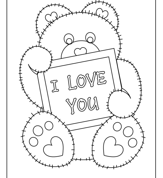 551x600 Coloring Pages For You Free Printable I Love You Coloring Pages