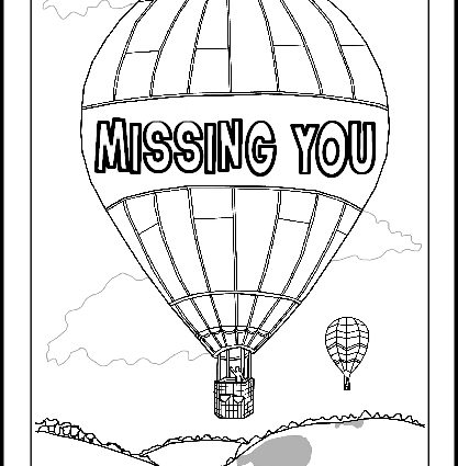 417x425 We Missed You Coloring Pages Printable Get Well Soon Colouring