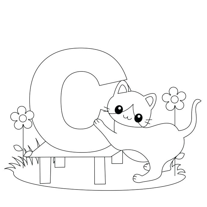 687x687 Letter A Coloring Pages For Preschoolers Large Size Of Coloring V