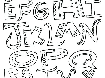 440x330 Coloring Pages Disney Channel Alphabet For Toddlers Big N Free