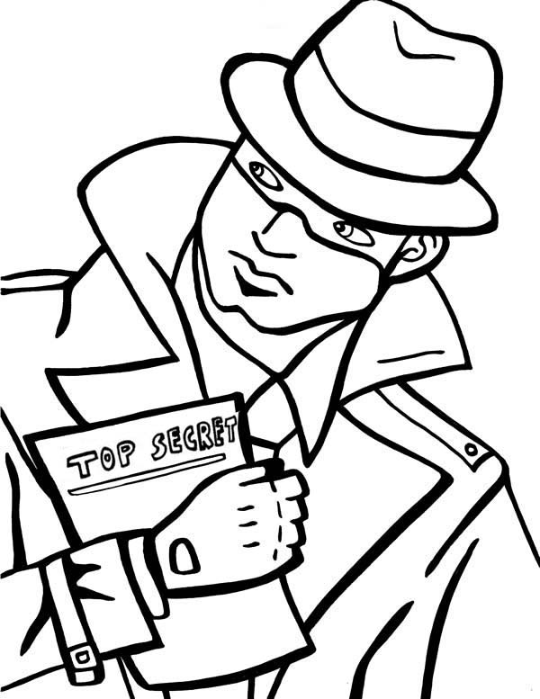 600x777 Spy Coloring Pages