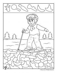 232x300 Winter Hidden Pictures Coloring Pages Woo! Jr Kids Activities
