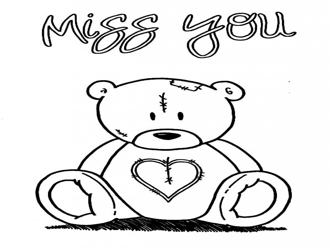 I Will Miss You Coloring Pages at GetDrawings | Free download