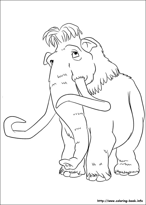 567x794 Ice Age Continental Drift Coloring Picture