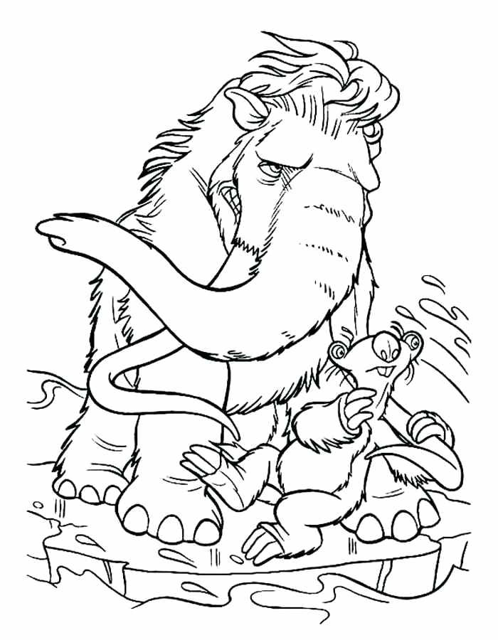 700x900 Ice Age Coloring Ice Age Coloring Pages Ice Age Coloring Games