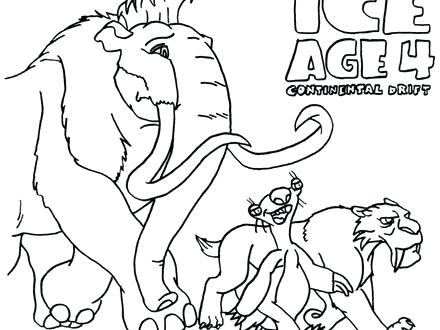 440x330 Ice Age Coloring Page Free Coloring Pages Ice Age Continental