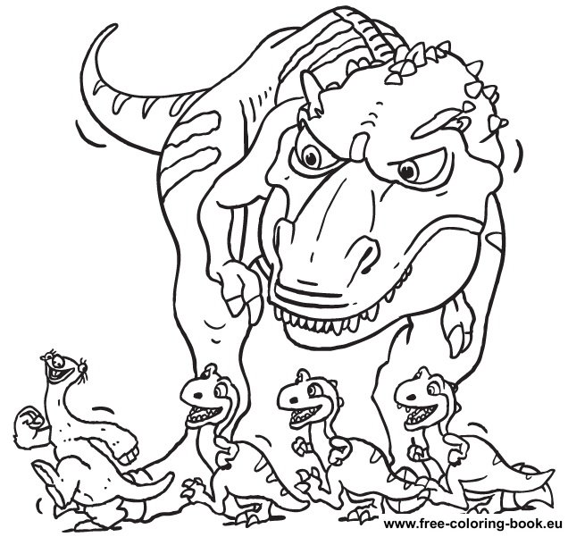 636x601 Ice Age Coloring Pages