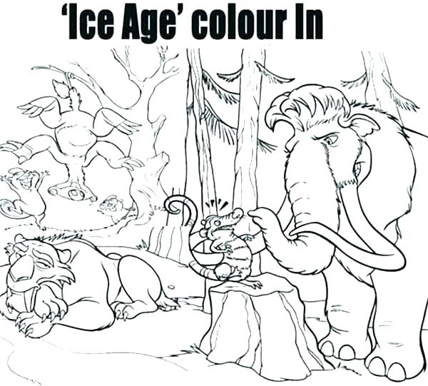 600x541 Ice Age Coloring Pages Ice Age Coloring Pages Ice Age Pictures