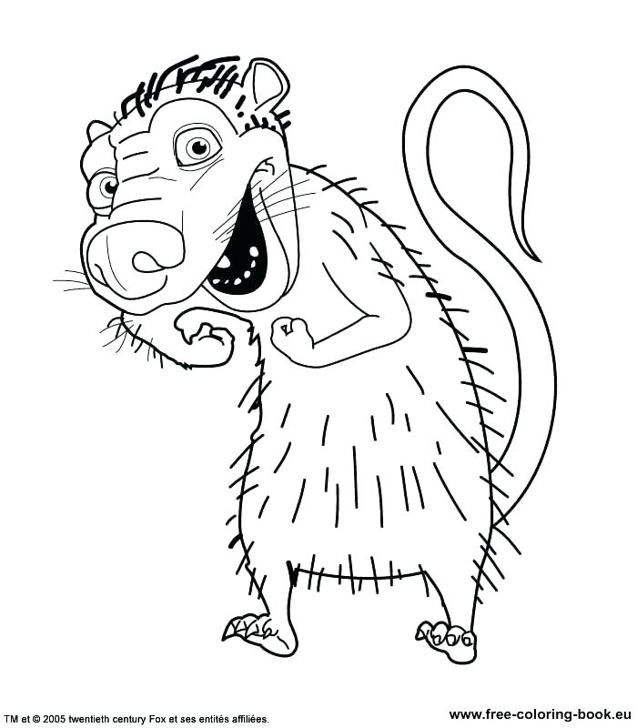 700x800 Ice Age Coloring Pages Online