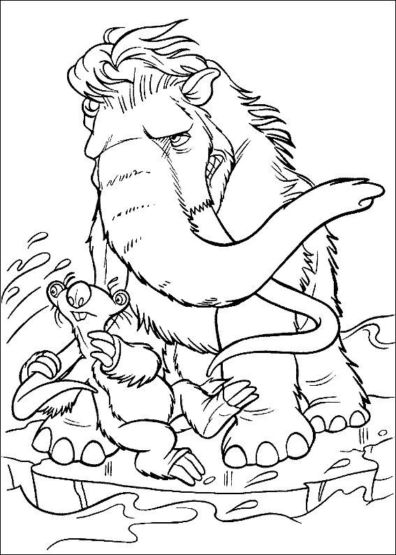 567x794 Ice Age Very Angry Ice Age Coloring Pages Ice Age