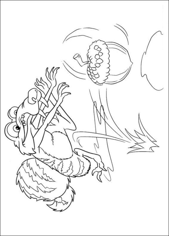 584x818 Kids N Coloring Pages Of Ice Age Continental Drift