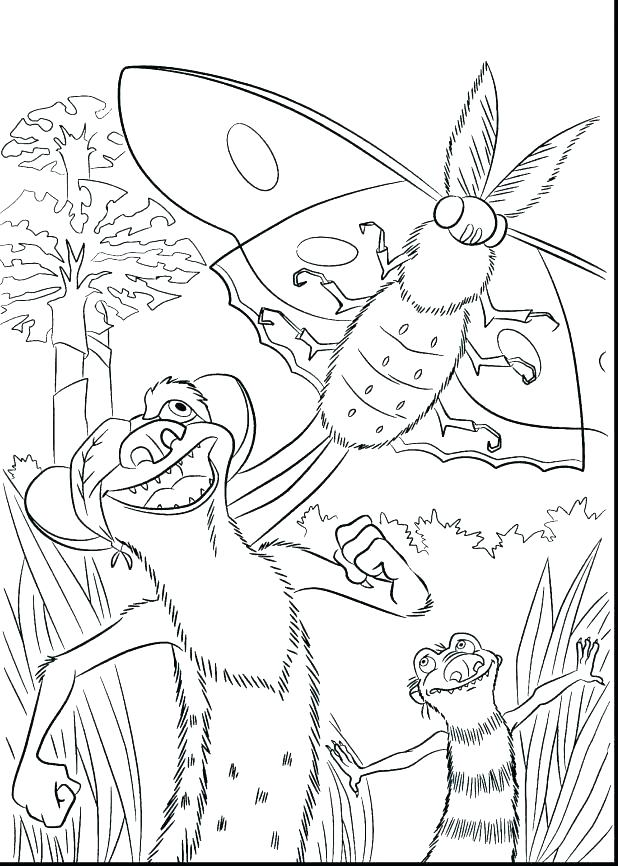 618x866 Ice Age Coloring Page Coloring Ideas Pro