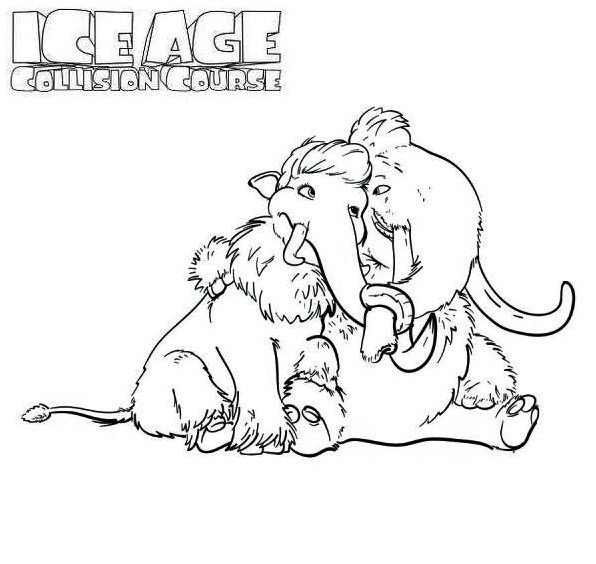 596x564 Terrific Ice Age Coloring Pages