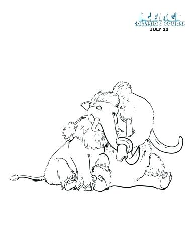 386x500 Coloring Pages Ice Age Coloring Pages Woolly Mammoth Ice Medium