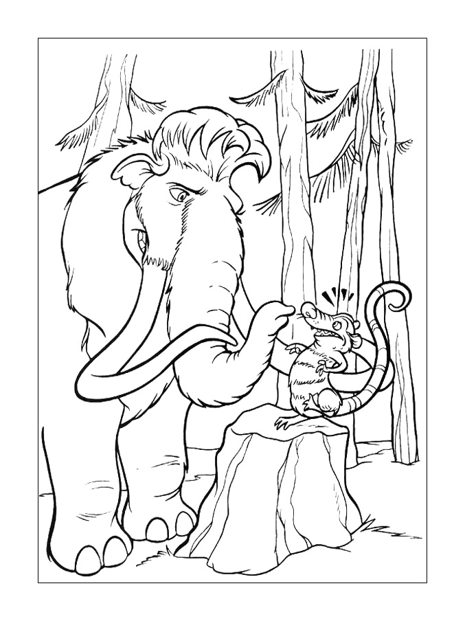 677x904 Ice Age Coloring Pages