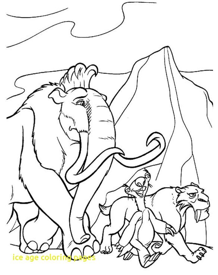700x885 Ice Age Coloring Pages With Best Ice Age Coloring Pages Images